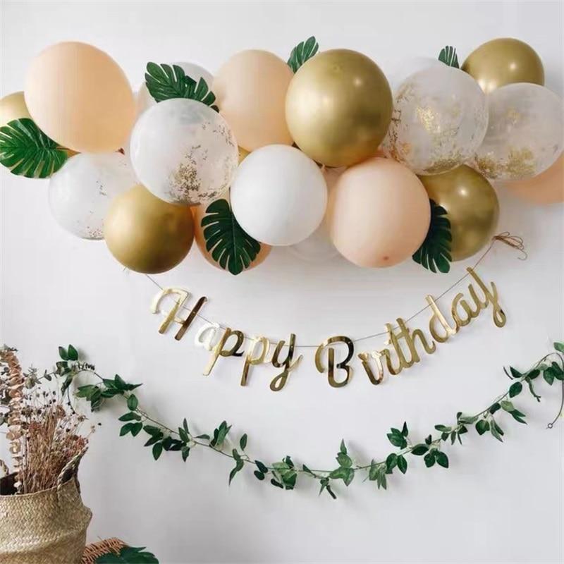 37 pçs folha de tartaruga ouro confetes látex balões chuveiro do bebê festa de aniversário casamento decorações globos grinalda arco feliz ano novo 2021
