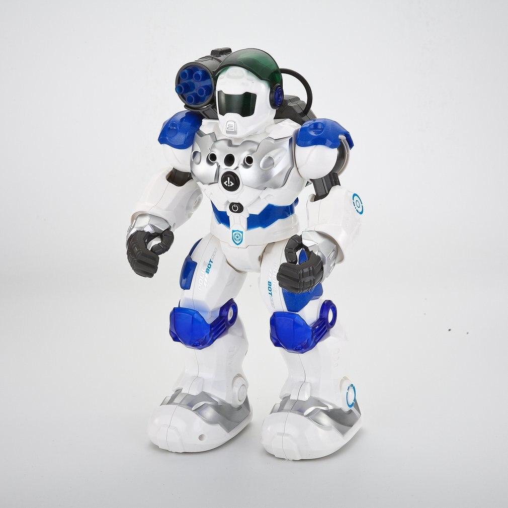 Rc robô de guerra inteligente polícia combate defender dança andando luz musical controle remoto brinquedo inteligente presentes da criança