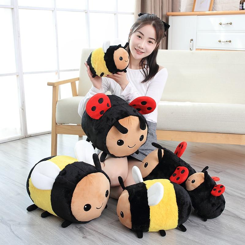 AliExpress - 20-40CM new anime  kawaii plush bee ladybug baby toys speelgoed stuffed toys peluche pillow baby room home  decorative pillows