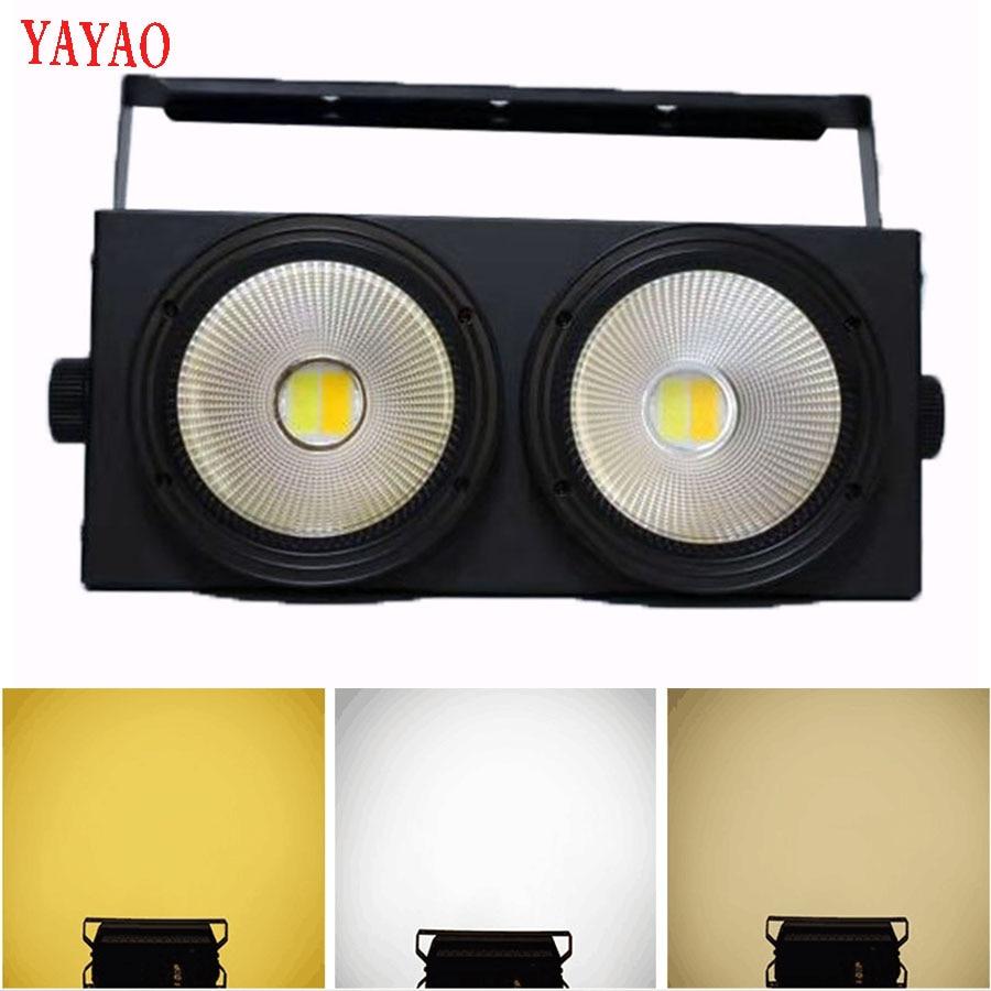 YaYao Cob 2 عيون 200W الاسمية المرحلة أضواء تسليم سريع LED اللون مطابقة حزب التحكم الصوتي KTV القرص عيد الميلاد