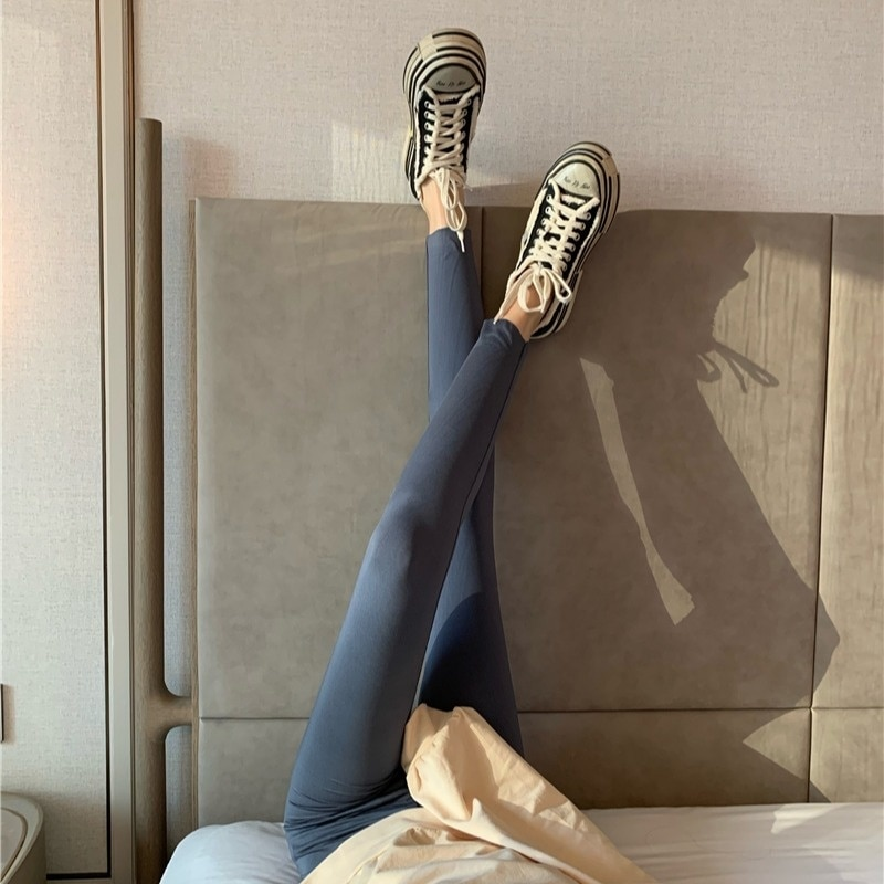 Autumn/winter Shark Pants Black Bottoms Wearing Tight Pencil Riding Pants Women's 2021 New Style Is