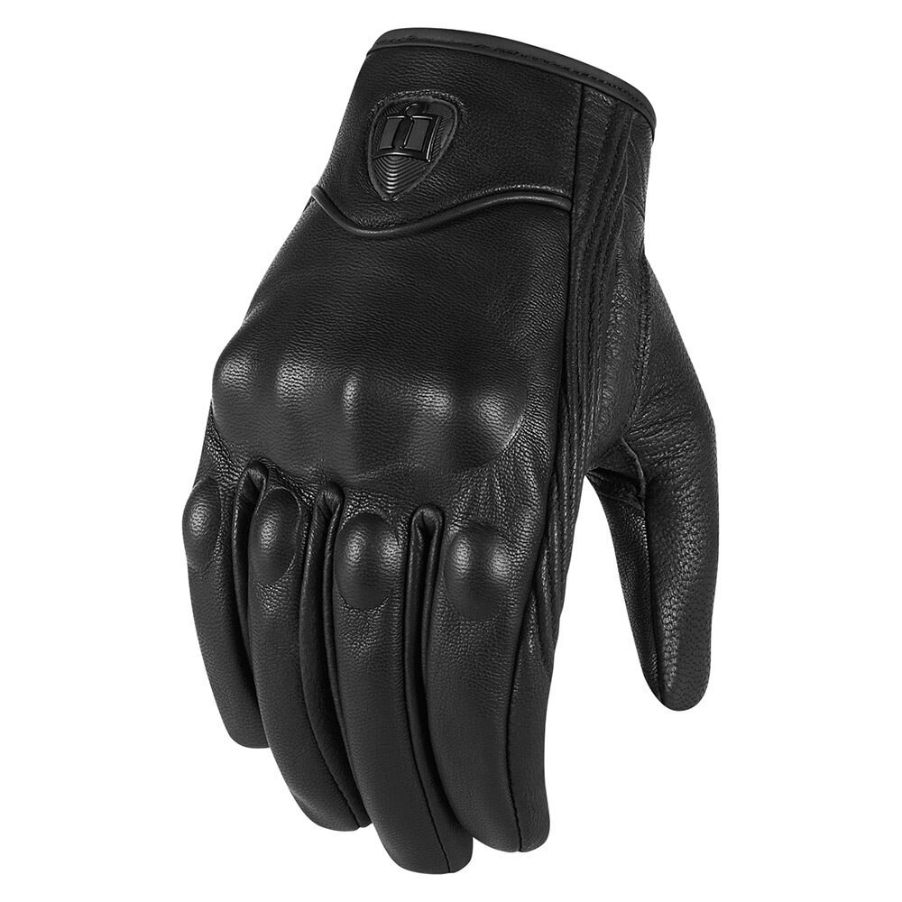 2PCS Classic Waterproof Motocross Gloves Real Leather Motorcycle Gloves Sports Outdoors Motorbike Protective Gears Moto Glove enlarge