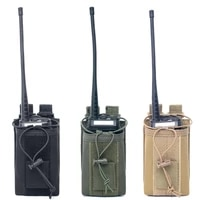 tactical molle radio pouch airsoft walkie talkie holster interphone holder military hunting edc waist phone bag magazine pouches