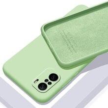 Мягкий чехол из жидкого силикона для Xiaomi POCO F3 M3, тонкая защитная задняя крышка для xiaomi POCO X3 NFC F2 X3 Pro X2 M2, оболочка