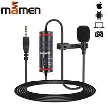MAMEN 3.5mm Audio vidéo enregistrement cravate Microphone pour iPhone Android Mac Vlog micro pour DSLR caméra caméscope enregistreur