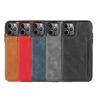 leather phone case for iphone 12 11 pro xs max x xr 7 8plus 12 mini se20 wallet card slot pull pouch silicone frame back cover