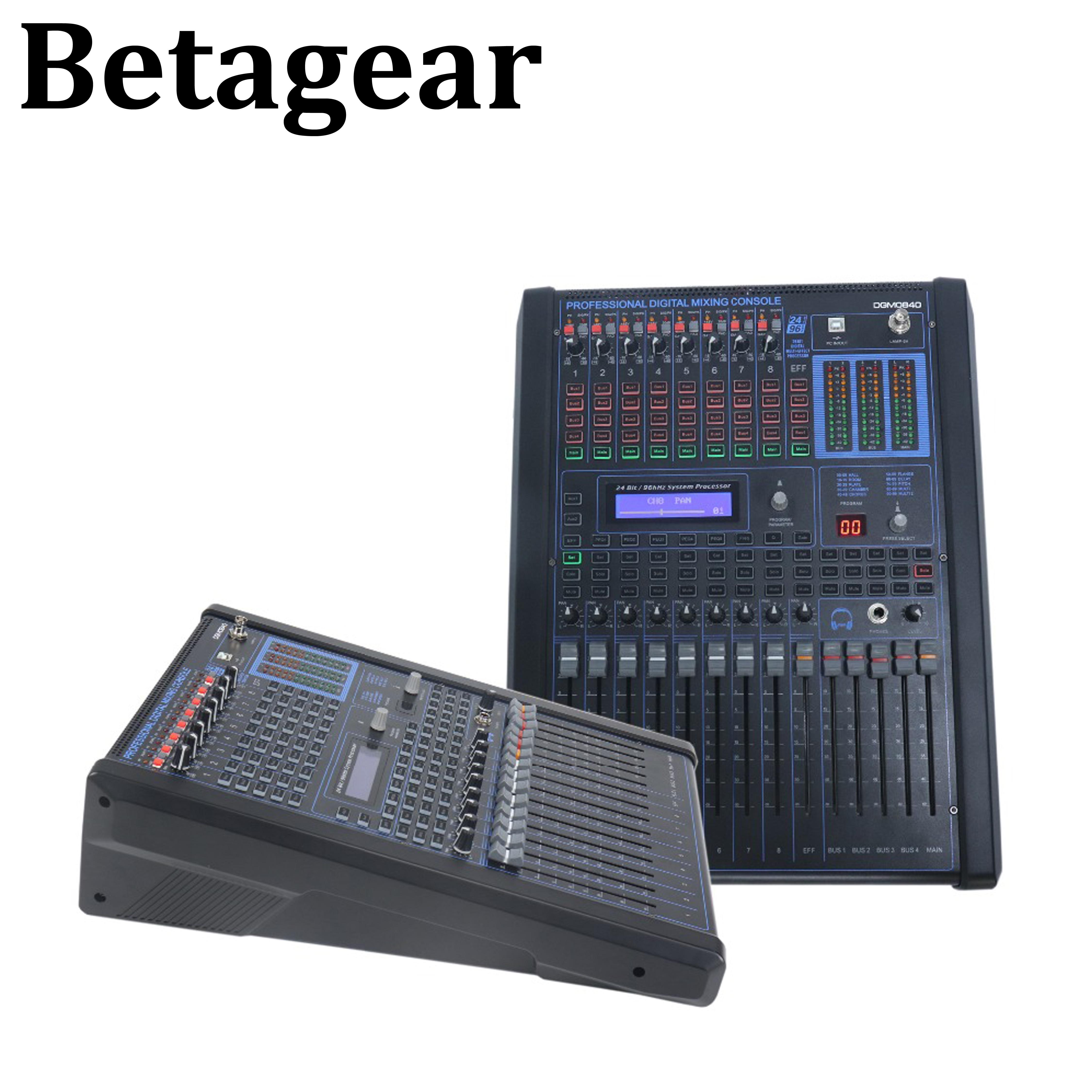 Betagear-خلاط صوت رقمي احترافي ، وحدة تحكم DGM0840 ، خط مجموعة ، مكبر صوت dj ، خلاط صوت رقمي ، صوت احترافي