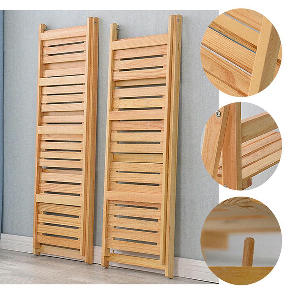 3/4 Tier Folding Plants Stand Ladder Waterproof Shelf Wood Bookshelf Storage Rack Home Decor Garden Furniture