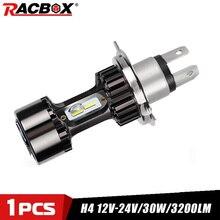 H4 LED Moto phare ampoule lumière 6000K 3200LM Moto phares ampoules feux de croisement ATV UTV voiture Auto Scooter lumières 12V 24V