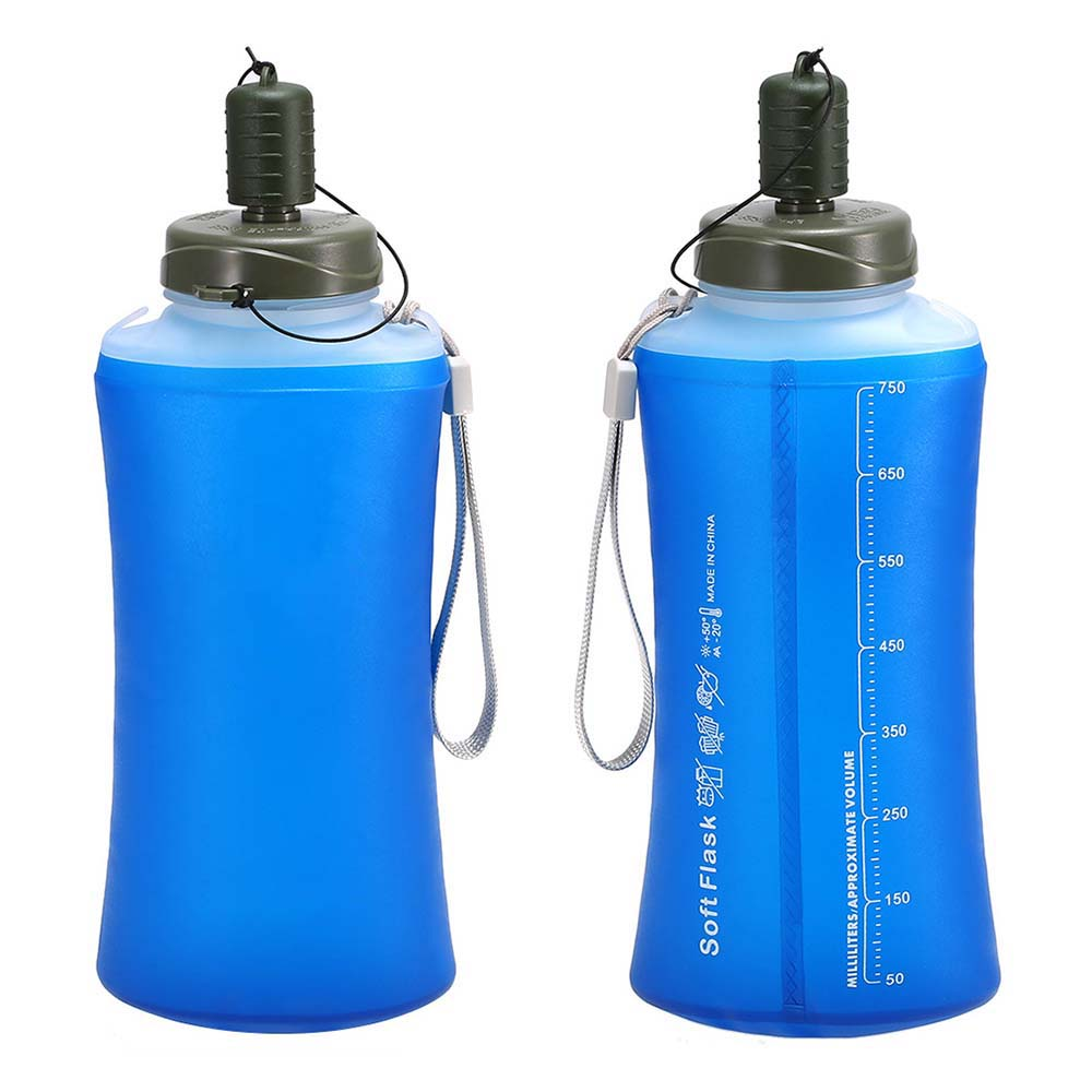 Báscula transparente, bolsa de agua plegable, conjunto de botella de agua plegable, bolsa de botella de bebida, bolsa de agua plegable