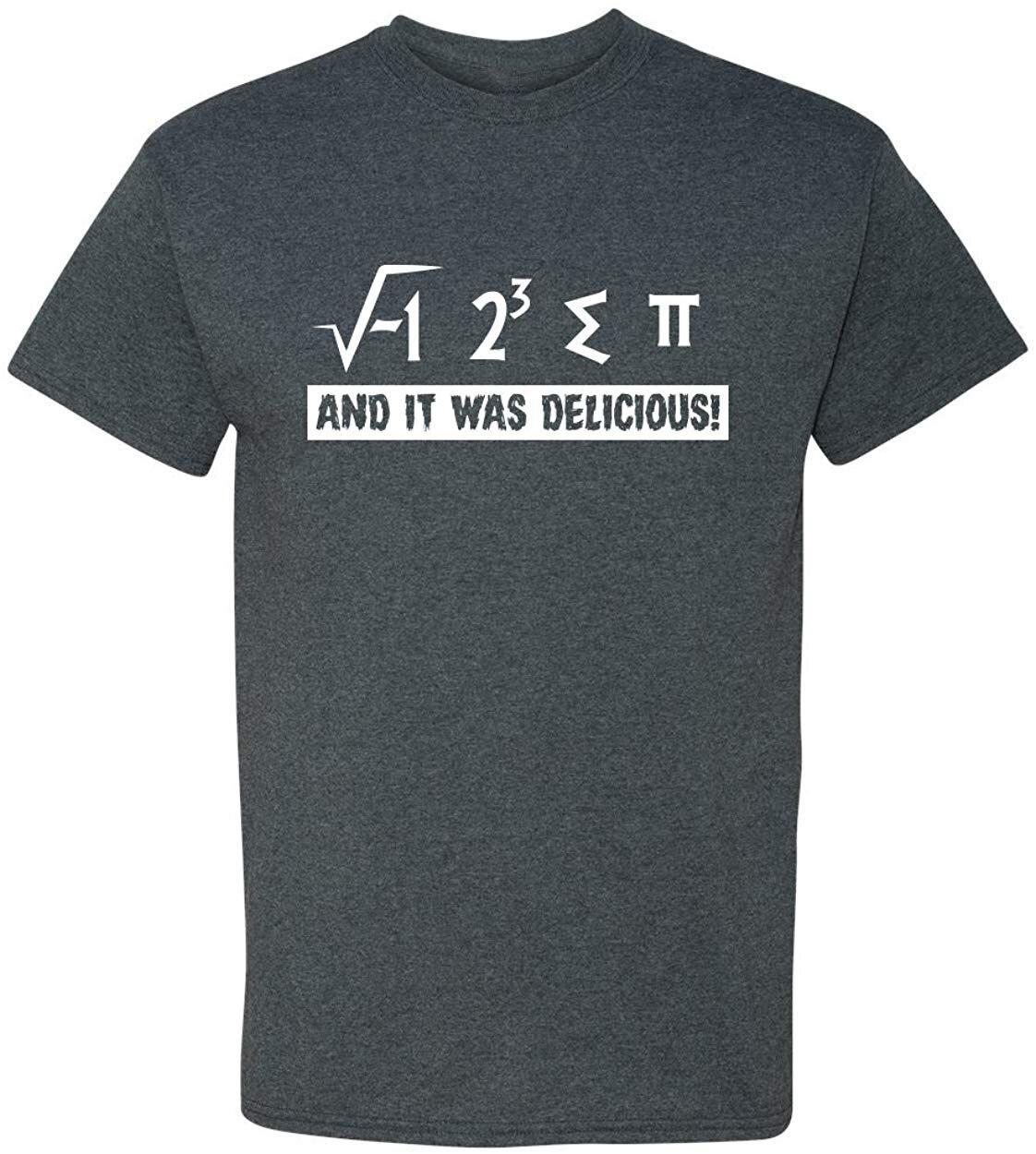 I Ate Some Pi And It Was Delicious Funny Math Pun 3,14 adulto hombres Humor camiseta hombres mujeres al aire libre desgaste Tops camiseta