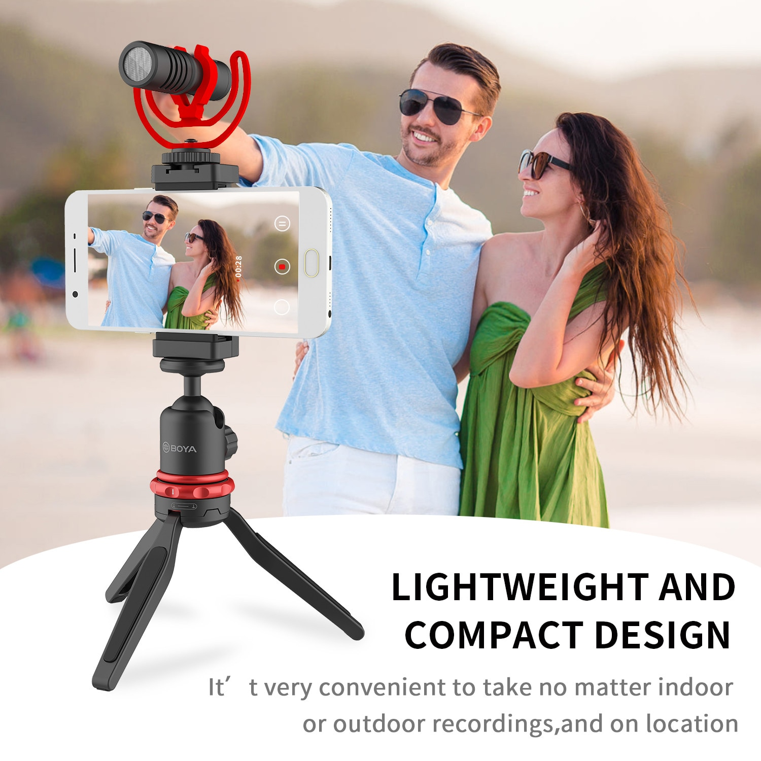 BOYA BY-VG330 Universal Smartphone Video Kit  for video shooting vlogging podcasting and more enlarge