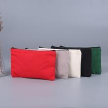 Canvas Zipper Pouch Bags Canvas Makeup Bags Pencil Case Blank Diy Craft Zipper Bags For Travelling C