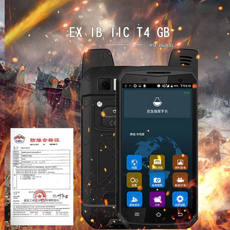i&YSF B6000 Military Defense Mobile Phone IP68 Petrochemical Special Security Explosion-proof Mobile Phone 4G Full Networ MTK676