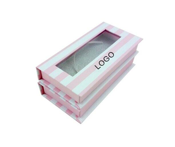 Hermoso diseño personalizado impresión en color caja de regalo embalaje para vino, embalaje visón 3D pestañas --- PX2049