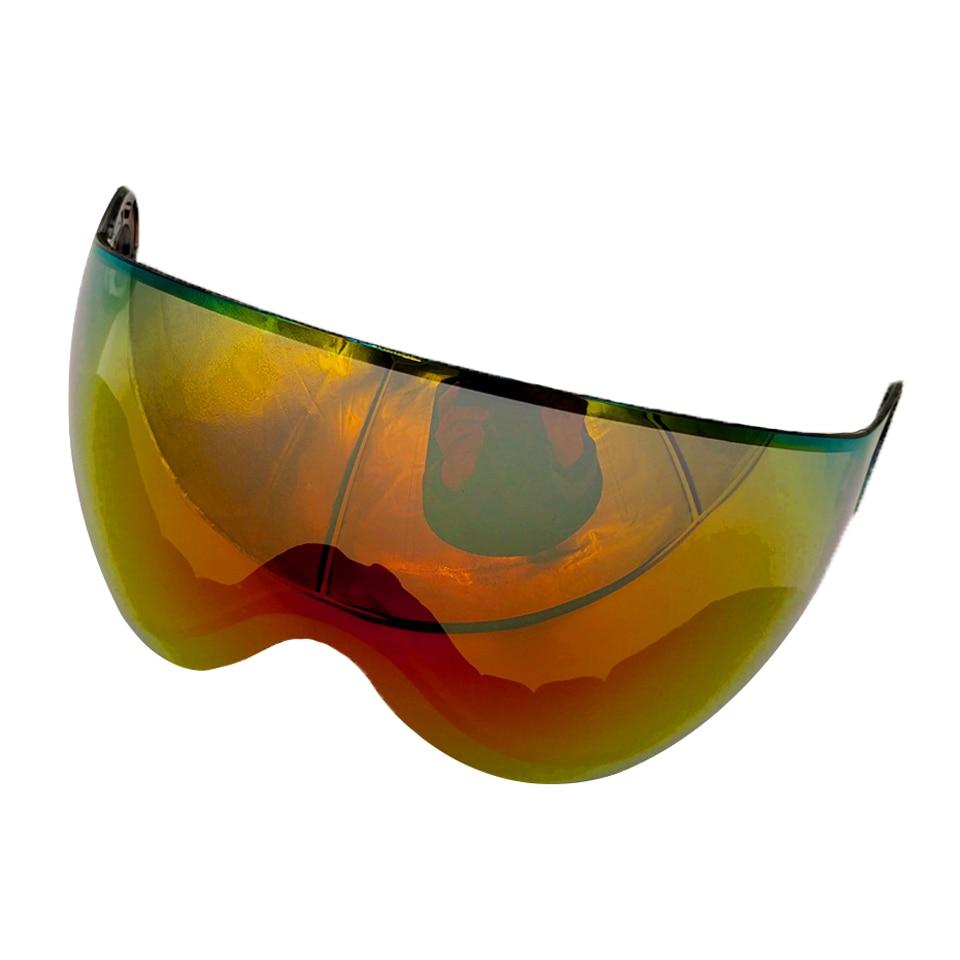 LOCLE Ski Snowboard Helmet Visor Lens Detachable Snow Mask Anti-fog Anti-UV Integrated Goggle Shield For MS95 and MS99