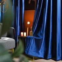 high end american european style velvet curtains velvet blackout curtains for bedroom living room balcony flannel curtains
