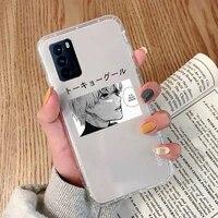 tokyo ghoul kaneki ken anime phone case transparent for oppo reno 2 5 z pro gtneo realme q2 gt 11 findx 2 pro realmev 3 5 k7x