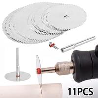 11 шт. мини-диск для циркулярной пилы электрический шлифовальный режущий диск Вращающийся инструмент для Dremel металлический резак Электроин...