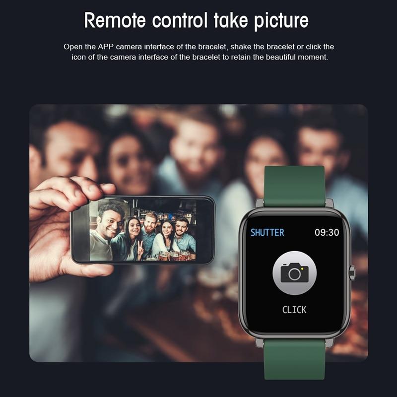 Смарт-часы P2 2020 водонепроницаемые спортивные с пульсометром и напоминанием о звонках и сообщениях-5