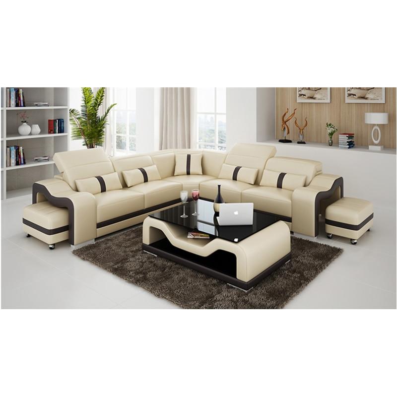 2019 nuevo diseño de alta gama sofá muebles sala de estar sofá modular de cuero loveseat
