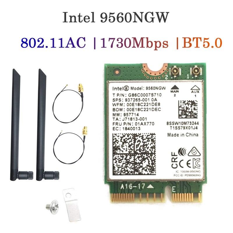 Cartão para Intel 6 sem Fio Wifi Bluetooth Rede Adaptador 802.11ax – ac 2.4gbps Suporte Windows 10 Ax201 Ax201ngw 5.0