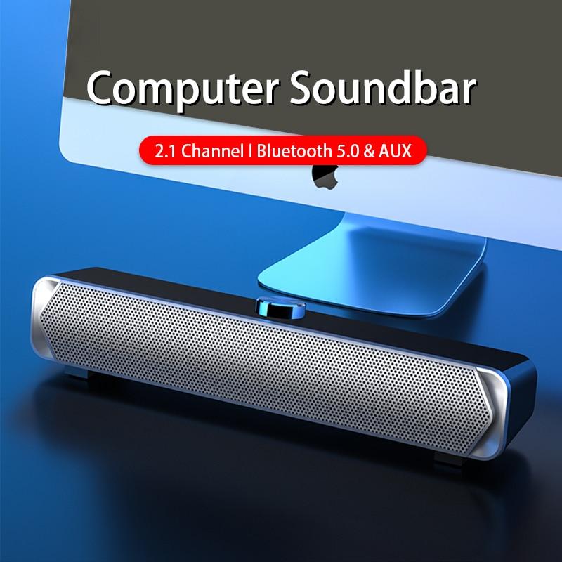 Barra De Sonido Bluetooth Para TV, Altavoces Para Ordenador, PC, Ordenador De...