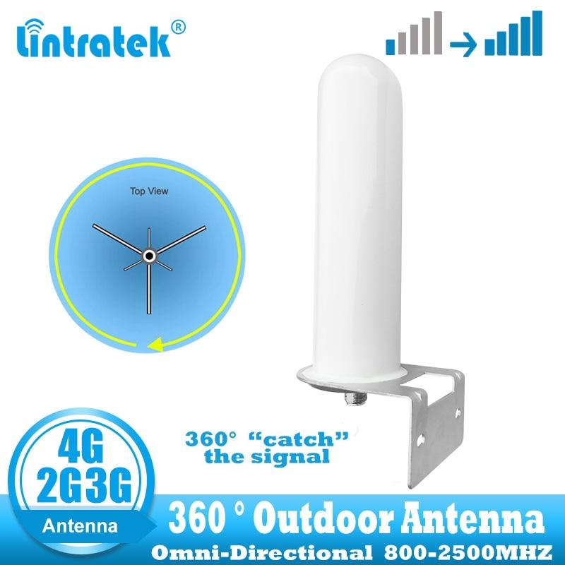 Lintratek 2 جرام 3 جرام 4 جرام هوائي احادي الاتجاه في الهواء الطلق 360 درجة الصيد إشارة ل هاتف محمول الخلوي إشارة الداعم GSM LTE WCDMA