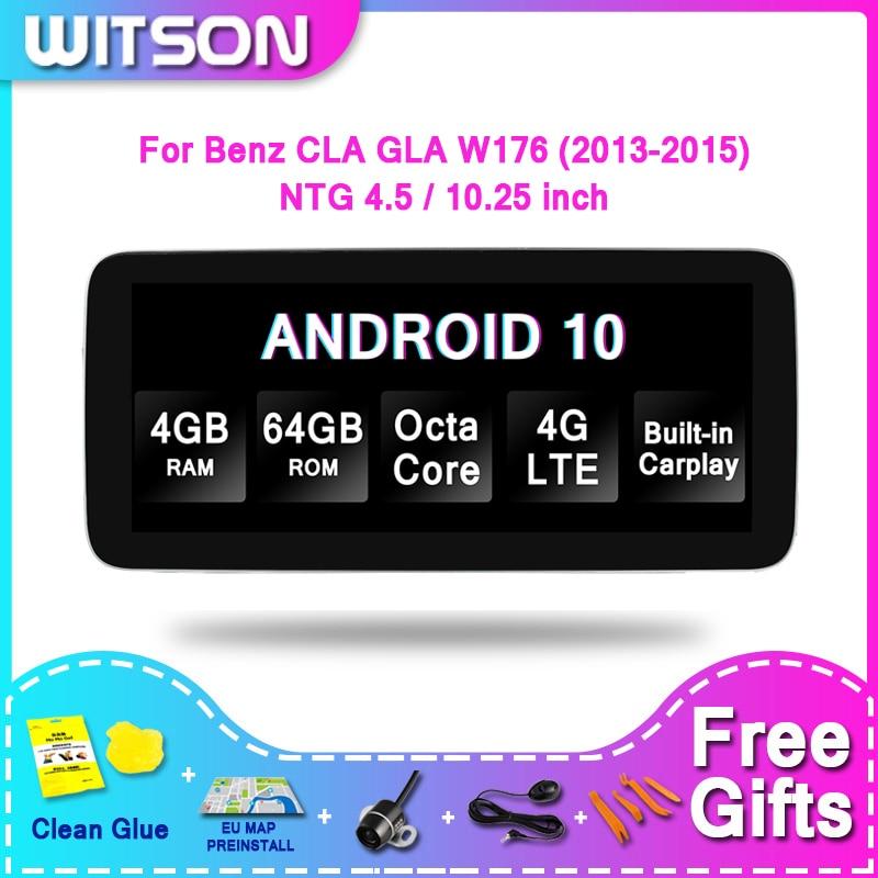 WITSON gran pantalla Android 10,0 4G + 64GB para MERCEDES-BENZ E CIA GLA W176 A160 A180 A200 A200 A250 A260 A45