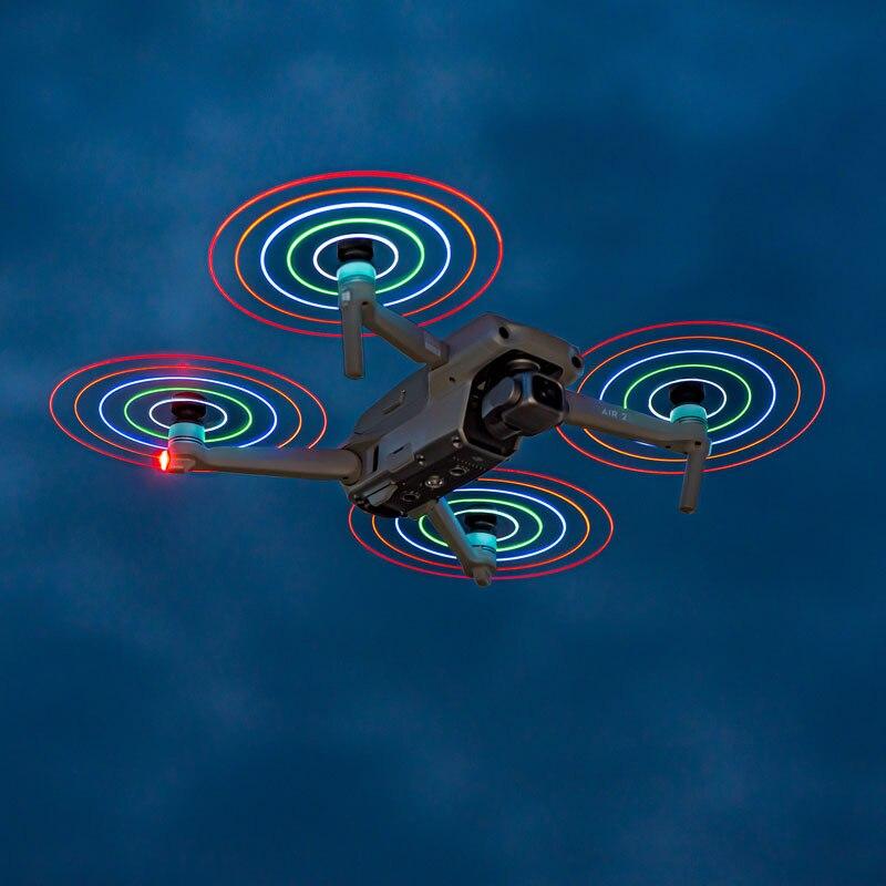 STARTRC Mavic الهواء 2S LED فلاش المروحة 7238F منخفضة الضوضاء قابلة للشحن الدعائم ليلة تحلق ل DJI Mavic الهواء 2 ملحقات طائرة بدون طيار