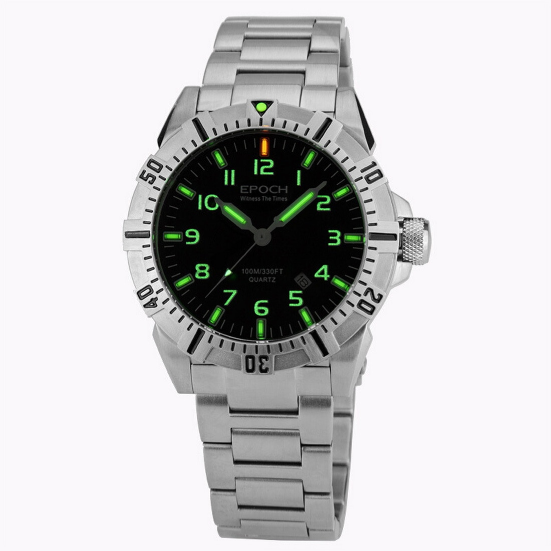 عصر الرجال الطيار ساعة رجالي التريتيوم الساعات العسكرية T25 مضيئة الأعمال كوارتز ساعة اليد 100 متر مقاوم للماء الياقوت الكريستال