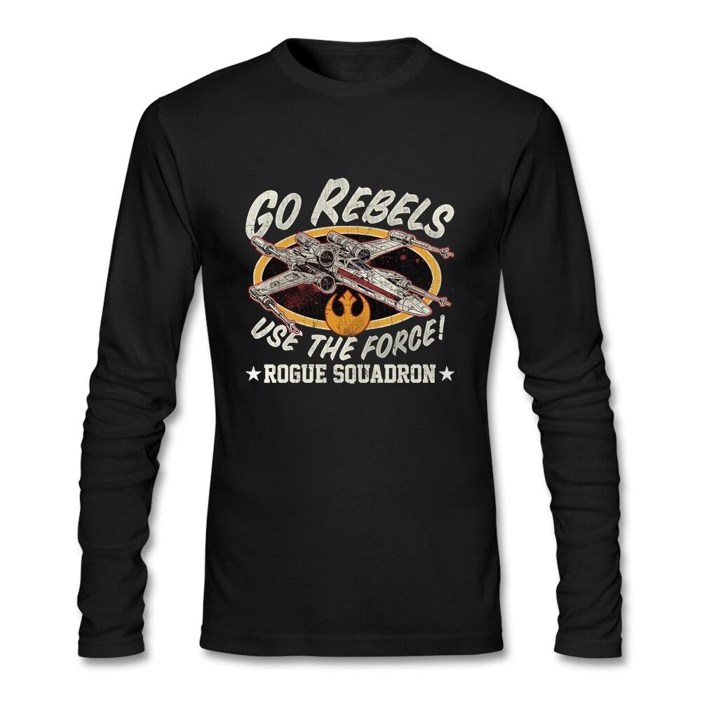 Camiseta Hipster Rogue Squadron Camiseta Masculina camisetas de moda para hombre 2020 algodón Crewneck camisetas divertidas de manga larga