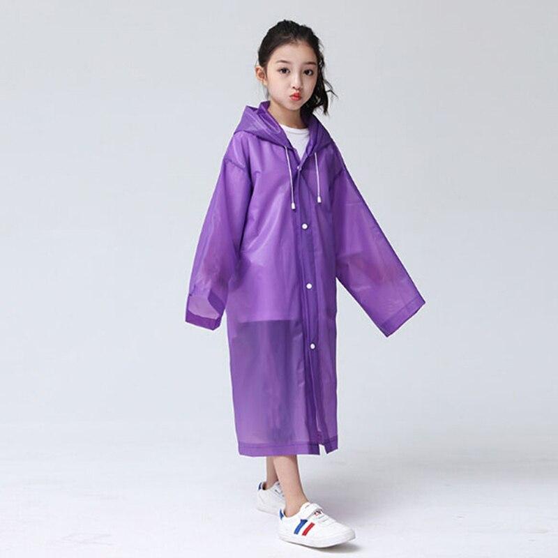 Impermeable transparente de moda para niños, impermeable para niñas y niños, abrigo para viajes de senderismo al aire libre para niños