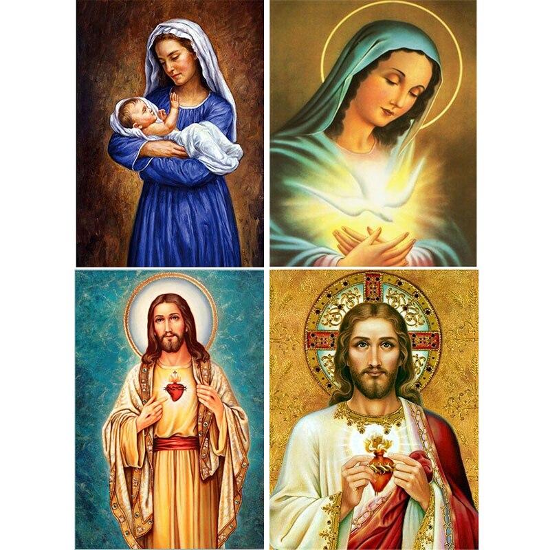 Diamante bordado religioso, padrões de jesus 100% completo diy 5d pintura diamante strass ponto cruz mosaico diamante