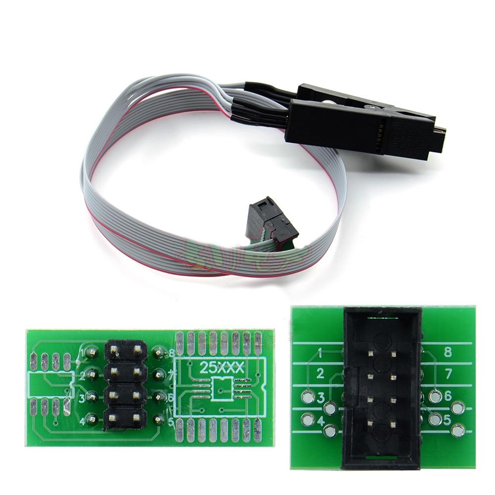 SOIC8 SOP8 IC зажим + адаптер розетка Универсальная для 24C 93C 25 серии SOIC SOP чипы G540 RT809F EZP2010 TOP3000