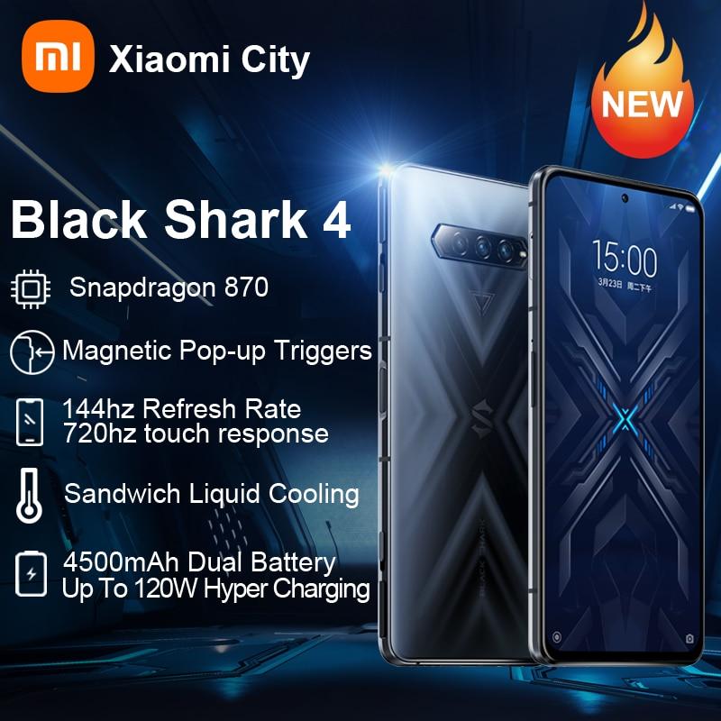 Перейти на Алиэкспресс и купить Смартфон Xiaomi Blackshark 4 глобальной версии, 6 ГБ/8 ГБ/12 Гб ОЗУ 128 ГБ и 256 Гб ПЗУ