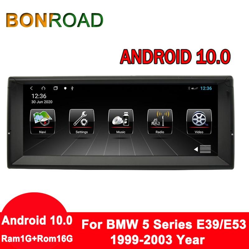 Bonroad 10.25 android android android 10.0 reprodutor de vídeo do carro do toque completo para e39 x5 m5 e53 e38 com canbus rádio rds navegação gps (sem dvd)