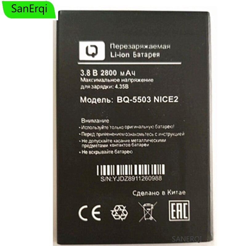 1 Uds para BQ BQ-5503 NICE2 batería agradable 2 INCCE2 BQS-5503 BQ 5503 2800mAh alta calidad