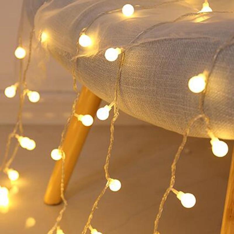 2M 5M 10M Cherry Balls LED  Fairy String Lights Battery USB 220V 110V Operated Wedding Christmas Outdoor Room Garland Decoration