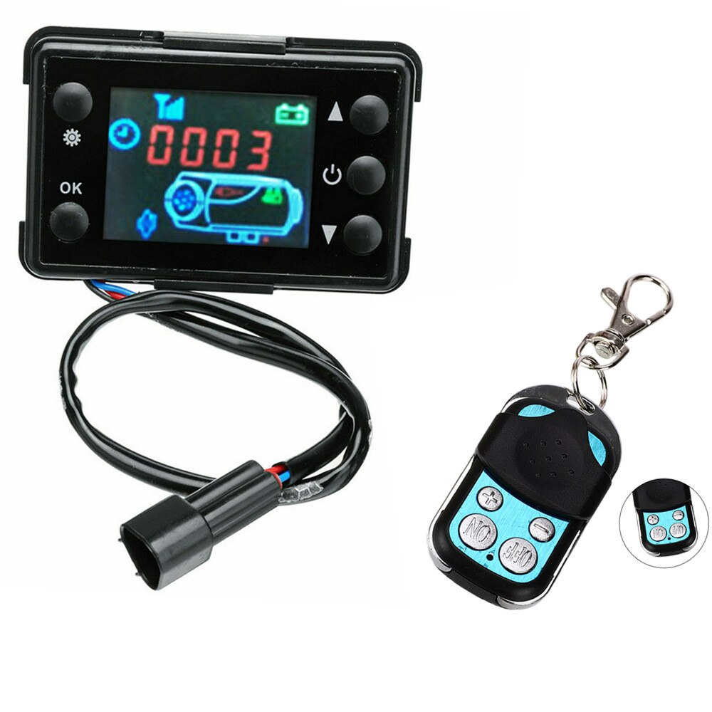 Universal 12V/24V LCD Monitor Switch+Remote Control Accessories For Car Track Diesels Air Heater Parking Heater Controller Kit 12v 24v lcd monitor switch remote controller accessories for car track diesels air heater parking heater car accessories