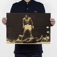 Boxing champion Ali vintage kraft poster core 51x 35,5 cm