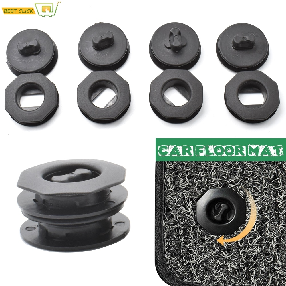 4x Universal Car Floor Mat Anti-Slip Clips Holders Sleeves Black Auto Carpet Fixing Grips Clamps Car Accessories