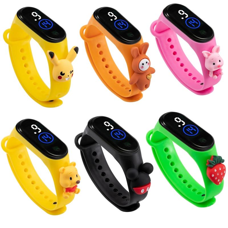 Умные спортивные часы Pokemon Pikachu, Детские Мультяшные часы покемона, женские часы, Детские умные наручные часы с ремешком, водонепроницаемый п...
