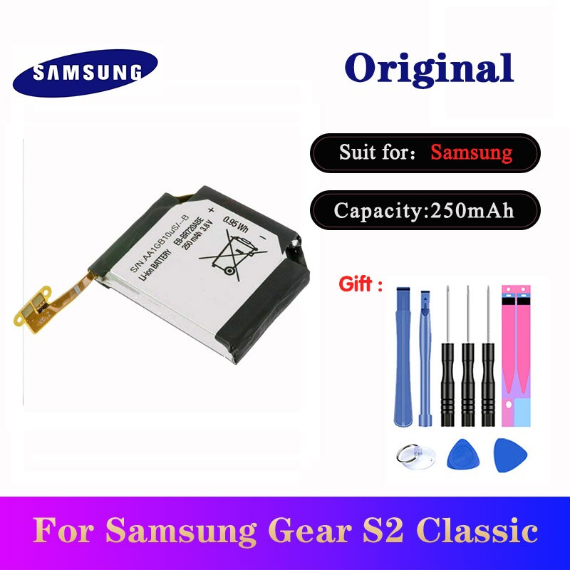EB-BR720ABE батареи для Samsung Gear S2 Classic SM-R720 R720 SM-R732 R732 250 мАч оригинальные Смарт-часы