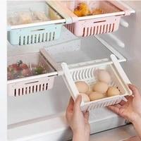 refrigerator retractable organiser drawer basket layer food storage shelf refrigerator drawer fresh compartment food shelf