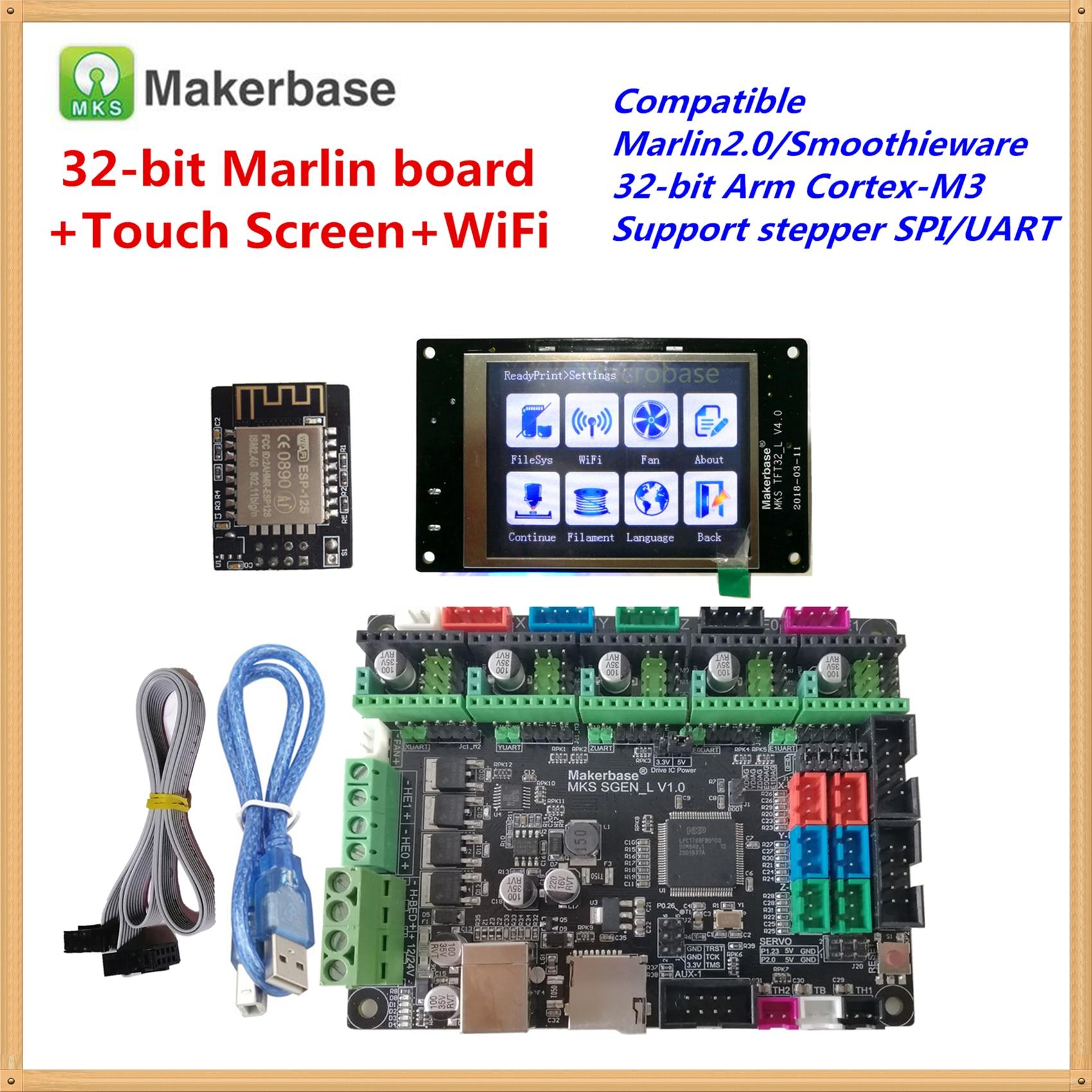Compatible con Marlin 2,0 Smoothieware MKS SGEN_L placa base + TFT MKS 32 pantalla táctil + TFT MKS dispositivo WIFI para creality cr-10