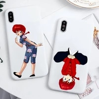 ranma japan amine phone case candy color for iphone 6 6s 7 8 11 12 xs x se 2020 xr mini pro plus max funda cover shell