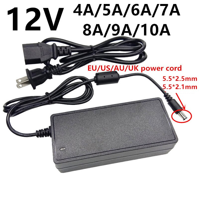 Universal 12 V AC adaptador de potencia DC 12 V 4A 5A...