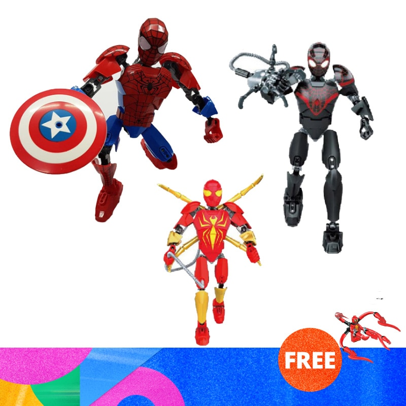 2019 Marvel Super Heros Set Spiderman Mech Venom Mecha Compatible With Lepining Building Blocks Toys For Children