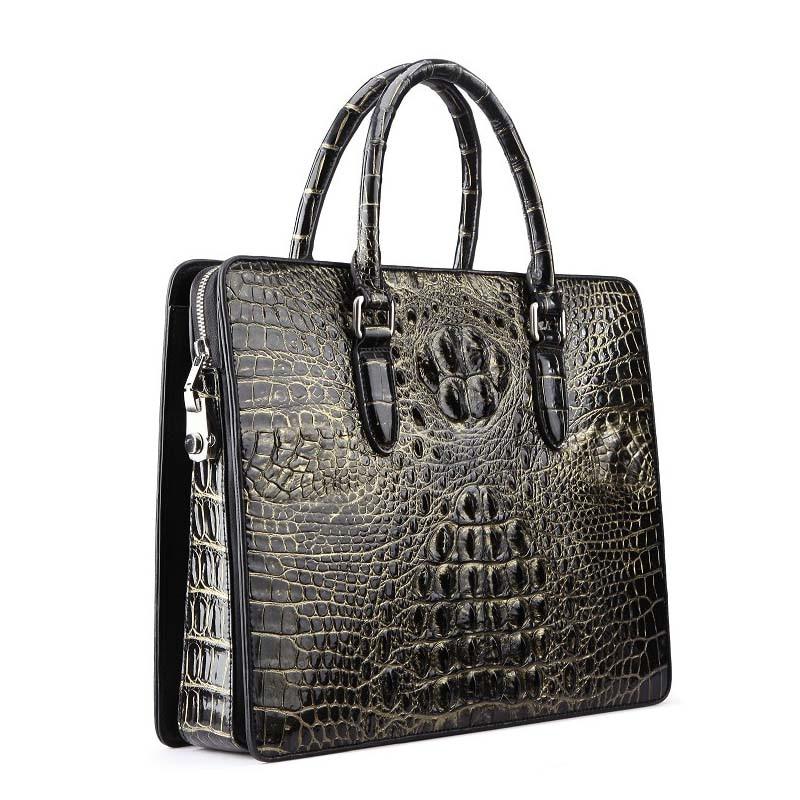 yinshang crocodile bag handbag  male  business  Men bags OL men briefcase  Cross section large capacity  portable men handbag